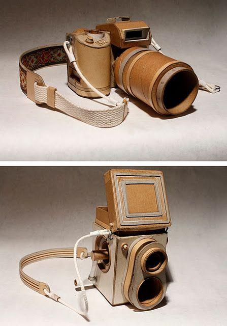 Cardboard camera creation.