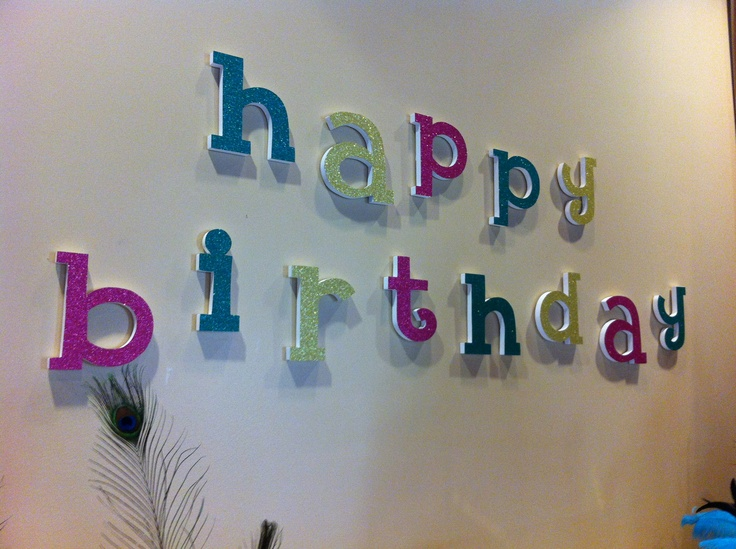 Happy Birthday Wall Decoration OldTimePottery Fifteen was fab