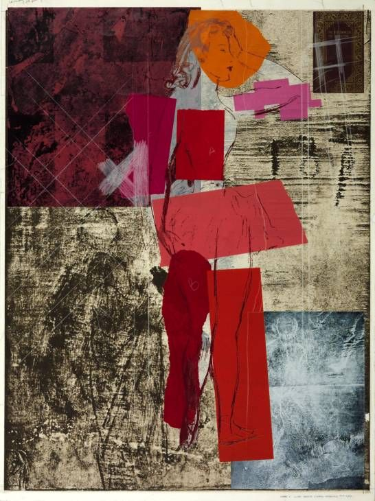 R.B. Kitaj, The Red Dancer of Moscow (State I), 1975