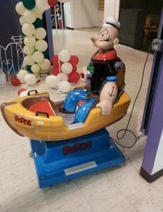 Popeye the Sailor Man coin op boat kiddie ride