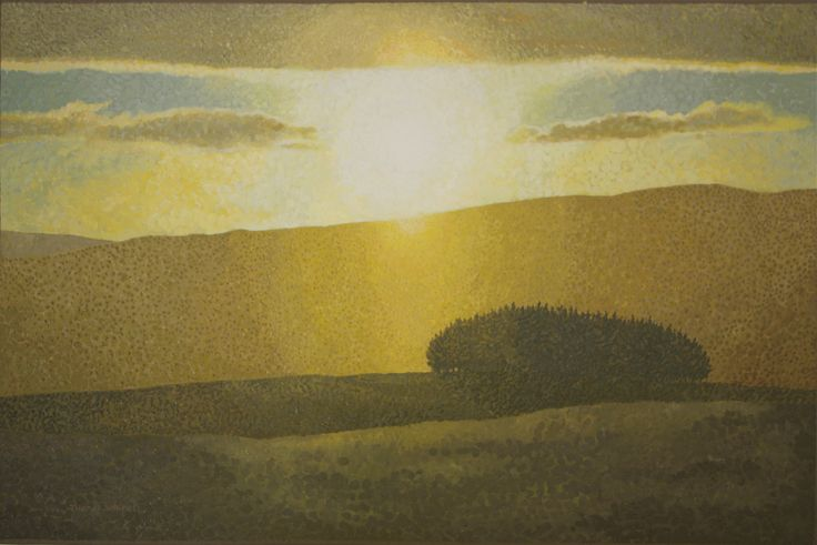 Ettrick Valley - Oil painting by Tom Wormell