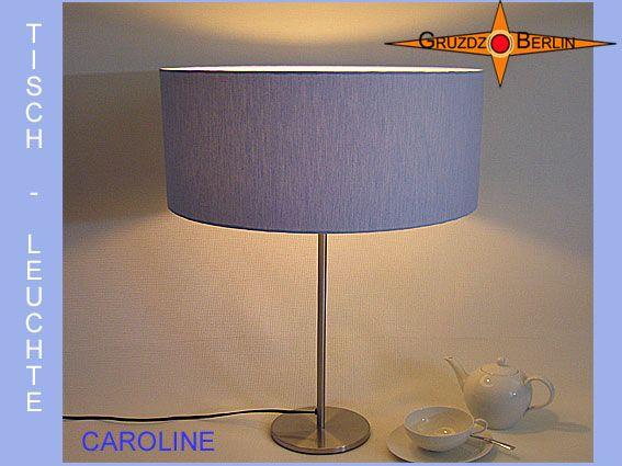 Tischleuchte CAROLINE Ø 40 cm Tischlampe Blau. Ein Klassiker aus Leinen für Eleganz und Behaglichkeit.