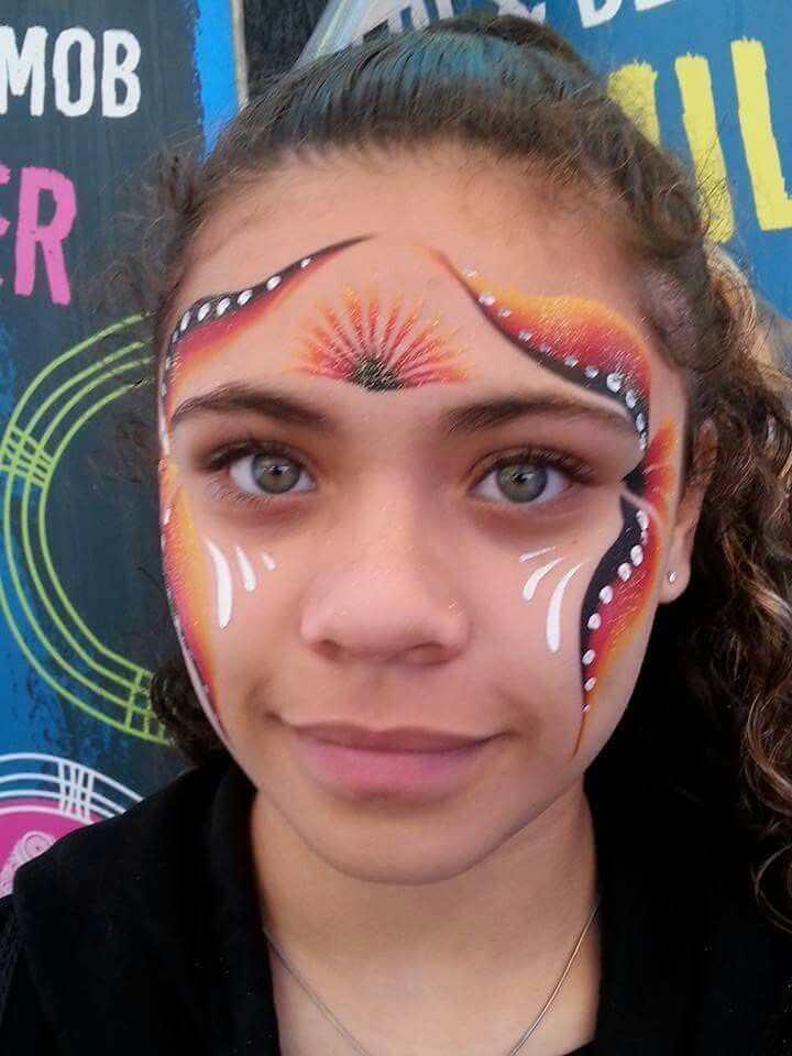 Pin By Lucy Jayne On Face Paint Naidoc Face Paint Face Carnival Face Paint