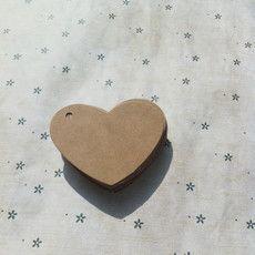 Крафт-бумага в форме сердца тег DIY принадлежности и вспомогательные материалы пустой тег закладки 6.5 * 5см Подарочная карта