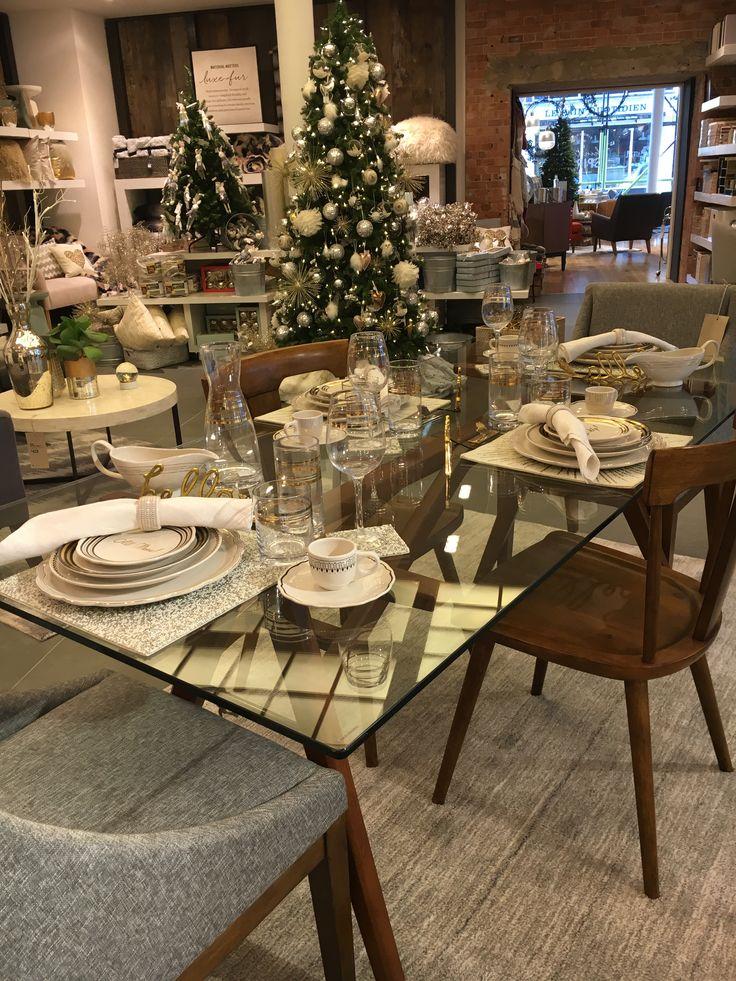 Christmas table merchandising #styling #visualmerchandising #westelm #display