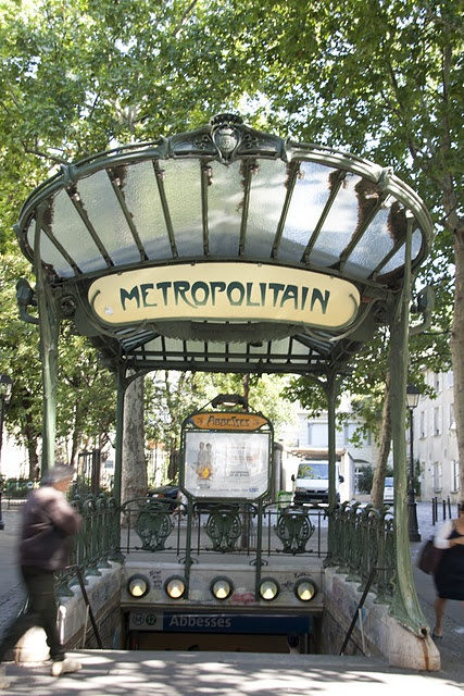 Metro - Paris - love the old metro entrances.  Had an eventful ride trying to get a pic of one - but did it!