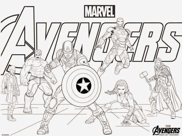 Marvel Avengers Coloring Pages 1 Marvel Coloring Avengers