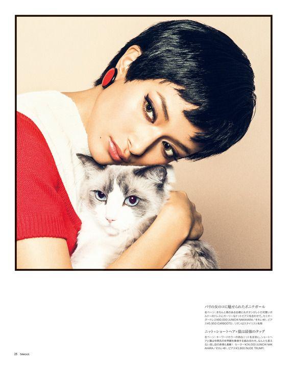 ローラ:黒髪ショートで中原淳一の女性像体現 愛猫も表紙デビュー - 写真詳細 (2枚目/全4枚) - 毎日キレイ