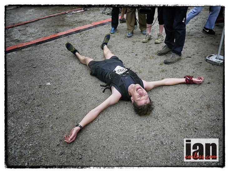 """""""leave it all on the course"""" (Arc'athlete Florian Reichert at Marathon du Mont-Blanc via Ian Corless)"""