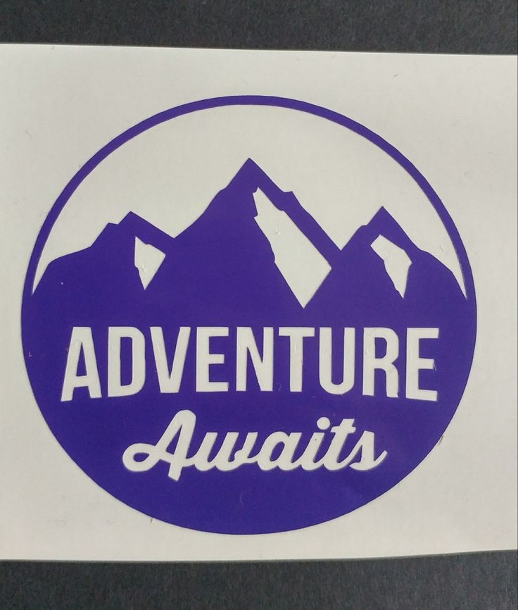 Adventure awaits vinyl decal vinyl decal custom decal car decal yeti decal