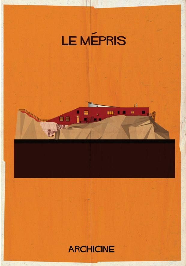 Le Mépris directed by jean-luc godard   Modernist home in Casa Malaparte, Capri, Italy by architect Adalberto Libera
