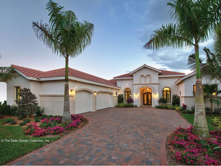 Old World Andalusian features are blended with modern conveniences and styling to create a plan that guarantees a luxurious lifestyle. Passing through the entry portico to the arched foyer, guests are drawn into the seemingly endless living space. On the
