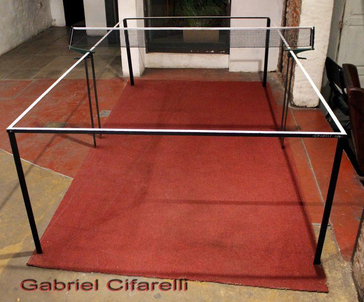 Mesa de Ping Pong vacía // Instalación // 280 x 80 x 153 cm Gabriel Cifarelli