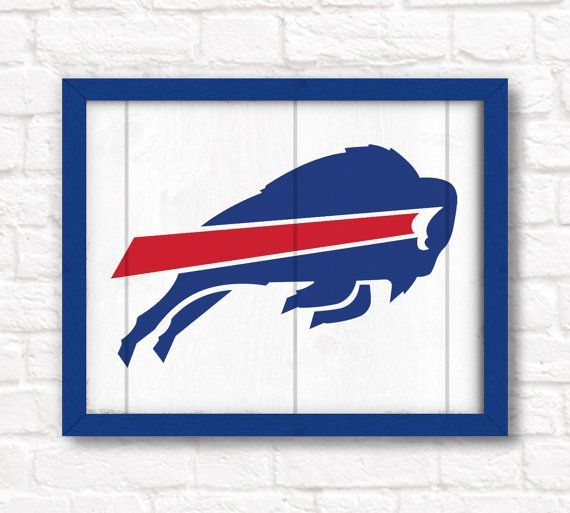 Buffalo Bills rustic wall hanging 16x20 by thePaintedLlama on Etsy