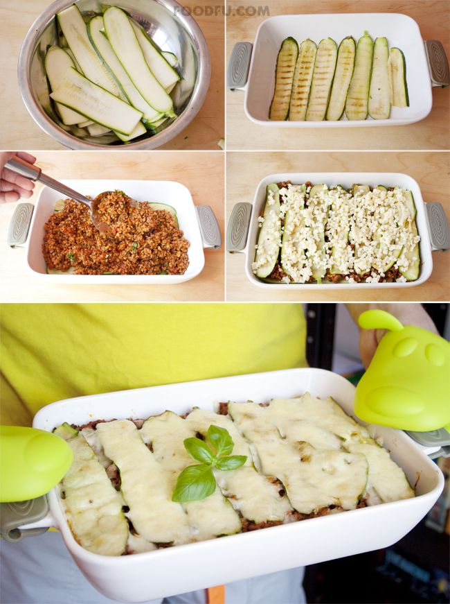 no-noodles-zucchini-lasagna-collage | Recipes to try! | Pinterest