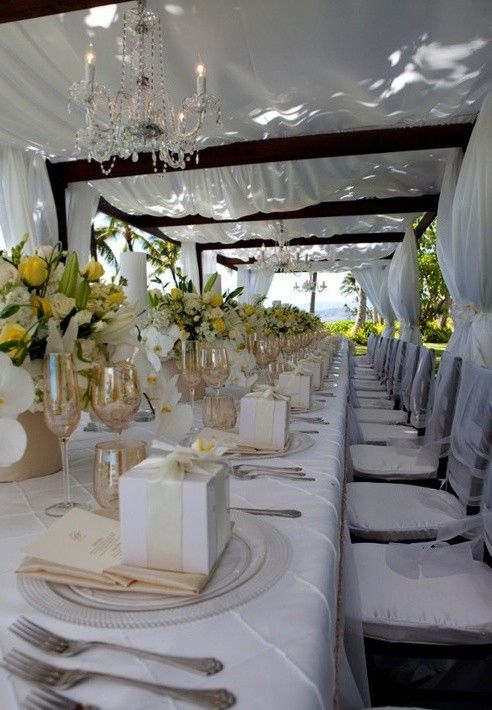 Las 25 mejores ideas sobre mesas rectangulares para boda for Decoracion de bodas economicas