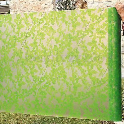 Foglie Verdi vetro smerigliato Window Film autoadesivo della stanza Privacy Protection 45 * 200cm