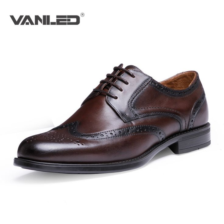 Top level Luxury Brand men casuel oxford brogue shoes dress winter formal genuine shoes men leather italian flats wedding