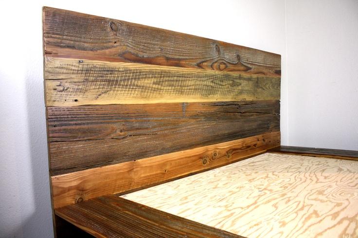 reclaimed wood platform bed barn wood bed frame modern lodge furniture industrial loft decor rustic cabin chic furnishing wood platform bed - Reclaimed Wood Bed Frame