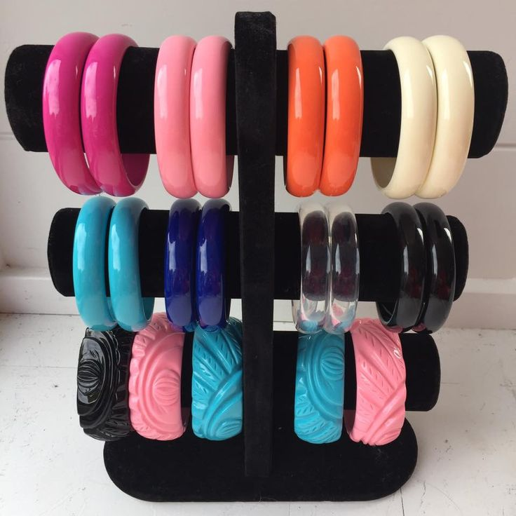 Retro style resin stacking bracelets – Moxie Mama Wear