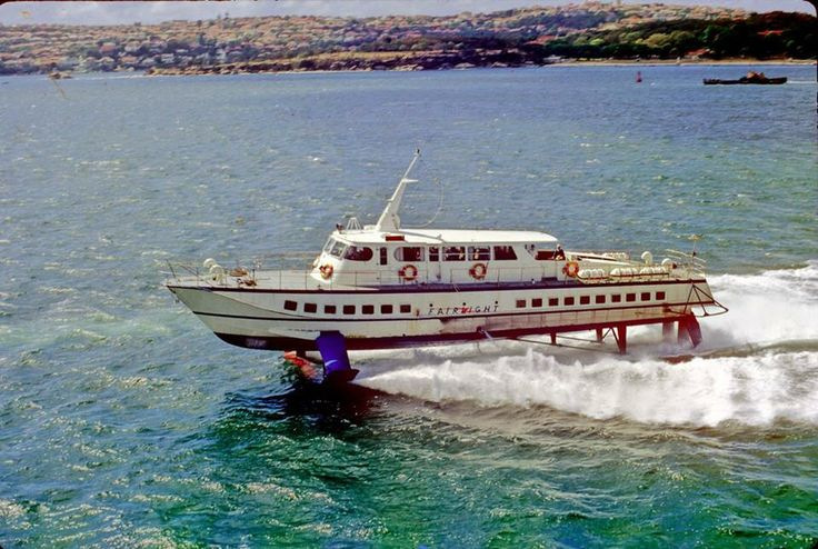 SYDNEY HYDROFOIL- I remember the thrill of racing across Sydney Harbour in one of these beauties. For a country kid it was the next best thing to flying in the Concorde.