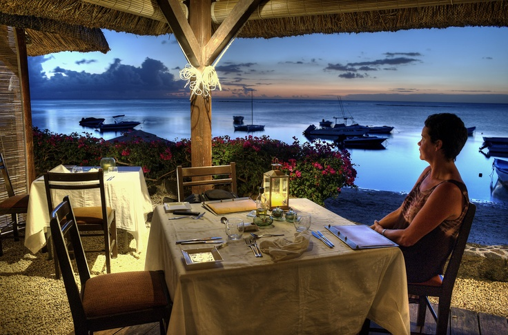 Dinner with a view. Mauritius.