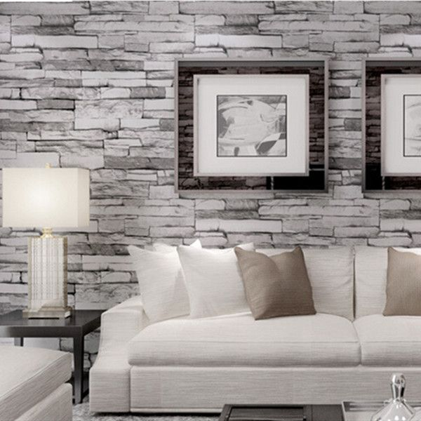 50 best nifty ideas images on pinterest faux brick for Wallpaper for living area