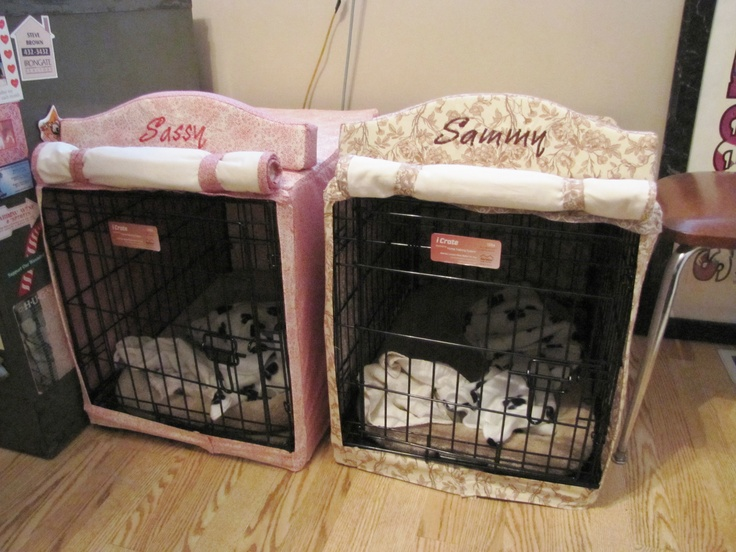 Dog Cage Covers Fabric And Foam Batting Sewing Project