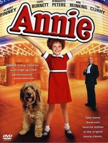Annie (1982)  Broadway musical based on the Little Orphan Annie comic strip. A young orphan girls adventures in finding a family that will take her.
