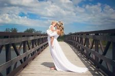 2Color Chiffon Gown Maternity Maxi Wedding Party Dresses Plus Size Photography $32.99 Buy It Now