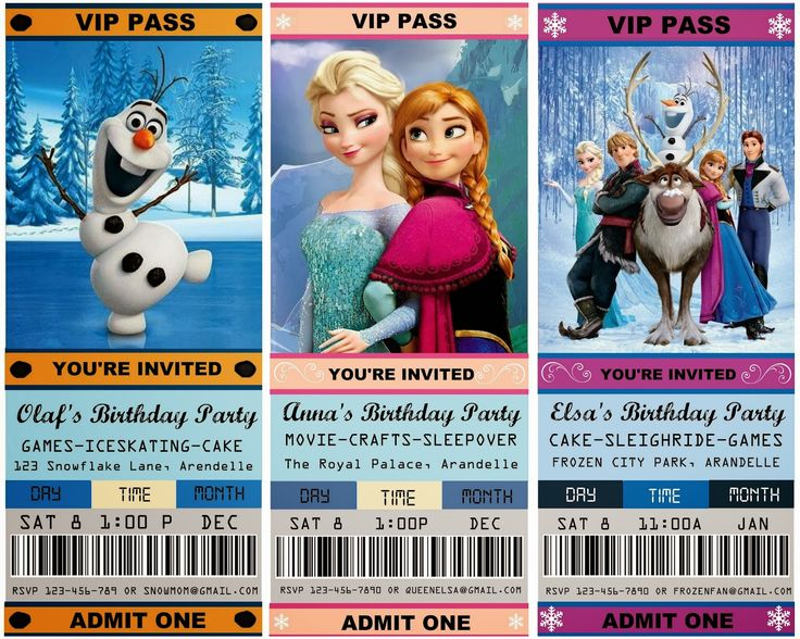 25 best ideas about Free frozen invitations – Ticket Invitation Maker