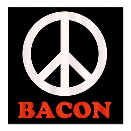 Peace and Bacon Shower Curtain #circusvalley