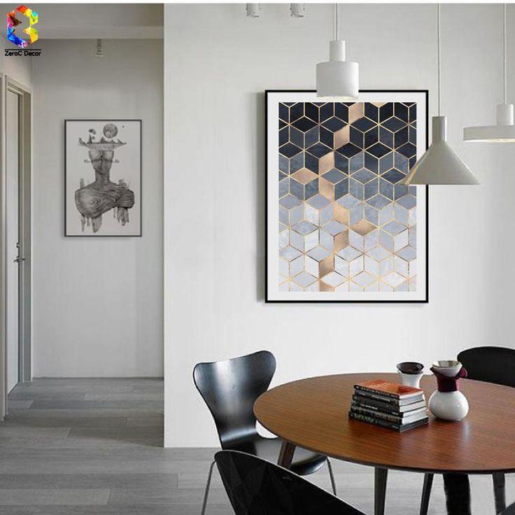 Geometric Cube Canvas