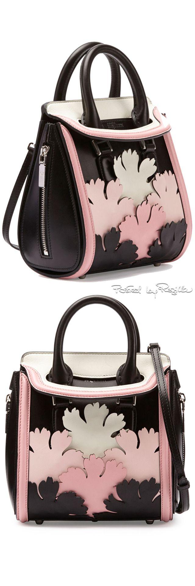 Regilla ⚜ Alexander McQueen, satchel with cutout leaf applique