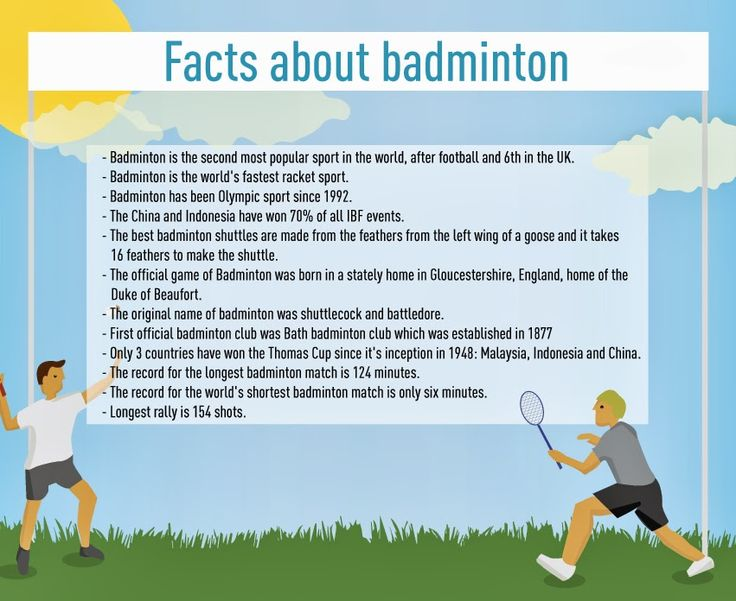 Badminton Facts ~ wish I could still play