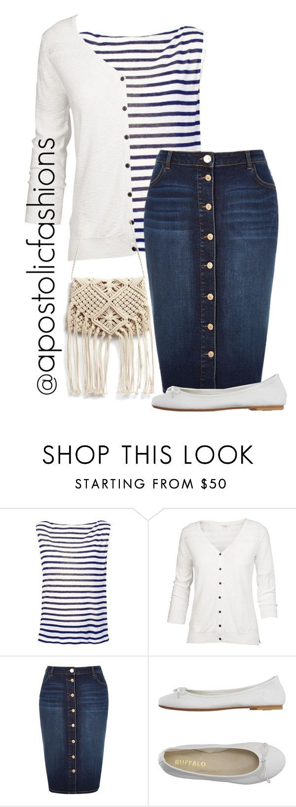 """""""Apostolic Fashions #1282"""" by apostolicfashions on Polyvore featuring T By Alexander Wang, Fat Face, River Island and DIENNEG"""