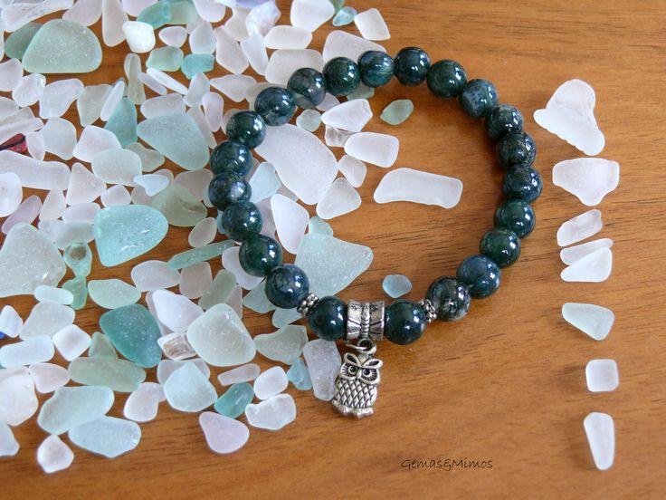 Ágata musgo. #jewelry #handmade #gemstones #joyeria #hechoamano #artesania #piedras