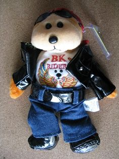 Beanie Kids 16 April 2003 Harley the Biker Bear