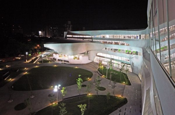 Rhino software has been used in the design of the National Library of Taichung VisualARQ / Rhino
