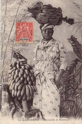 Banana Vintage Postcard