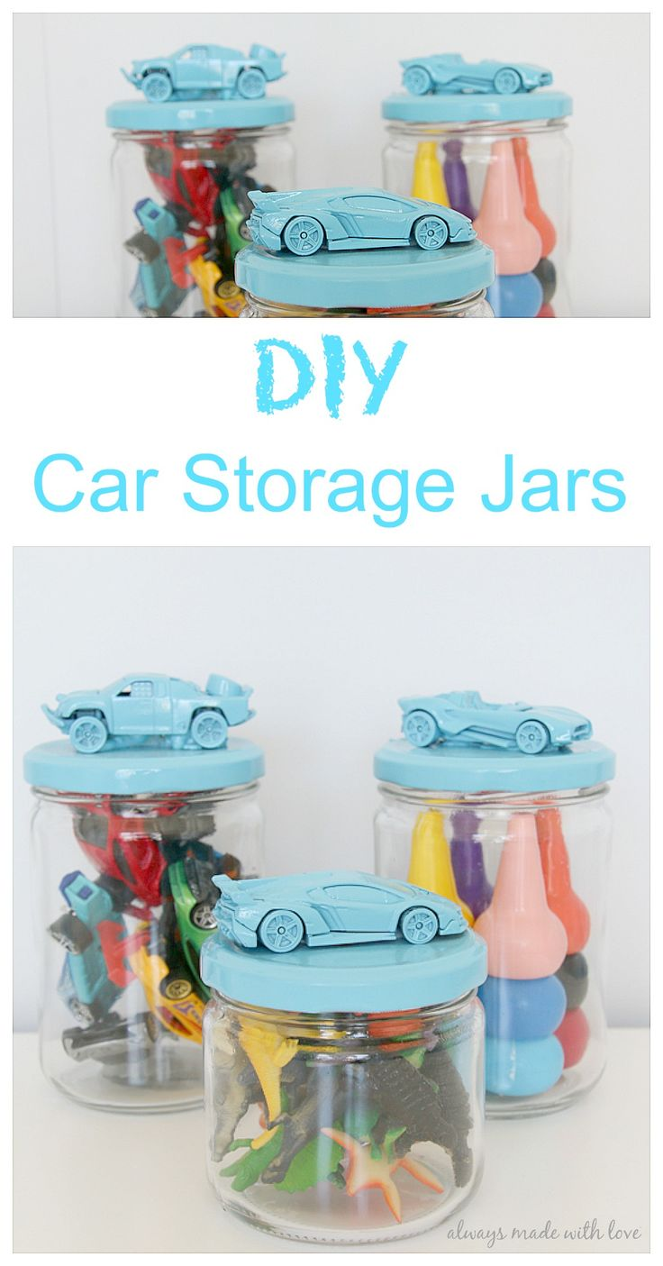 A quick and easy tutorial on how to put together these DIY Car Storage Jars, the perfect storage solution for all those little bits and pieces
