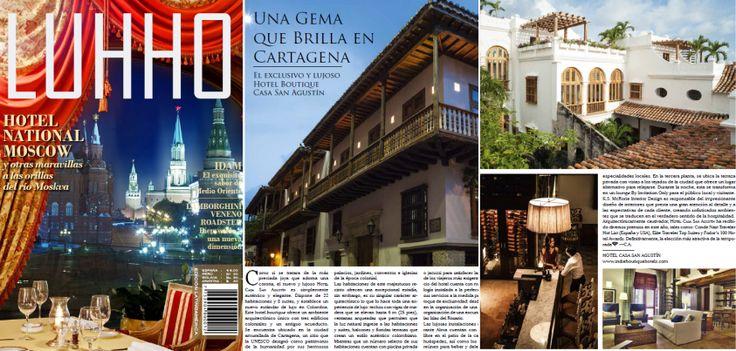 """""""Definitivamente, la elección más atractiva de la temporada."""" - Casa San Agustin en Revista Luhho Noviembre 2013 www.facebook.com/HotelCasaSanAgustin"""