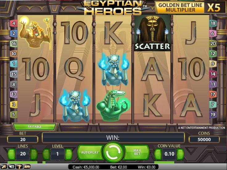 Med disse flotte funksjonene kan du få store utbetalinger på spilleautomater Egyptian Heroes #EgyptianHeroes #spilleautomater