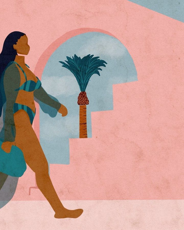 Reyna Noriega On Instagram Just Strolling Towards Warmer Days Artist Art Drawing Artwork Illustration Il Afrocentric Art Art Canvas Art Painting