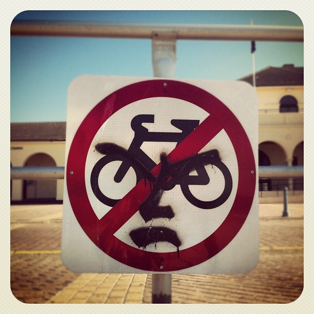 No bikes at Bondi beach? Not happy... #bondi #bondibeach #atbondi #beach #sydney #bikes #bicycle #sign