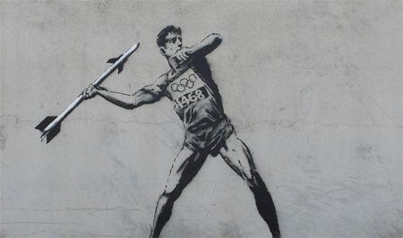 Banksy - london olympics - misil
