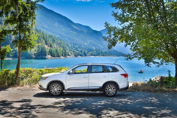 The all-new 2016 Mitsubishi Outlander captured at Brunswick Beach while enroute to the mountains of Whistler, British Columbia.