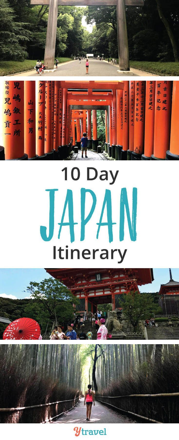 10 days in Japan itinerary. If you are planning a trip to Japan, this list of places to visit in Japan is perfect for first time visitors who want to see the highlights of Tokyo and Kyoto, taste the food, see the landscapes, the temples, experience the culture, and much more! #Japan #japanese #japanesefood #travel