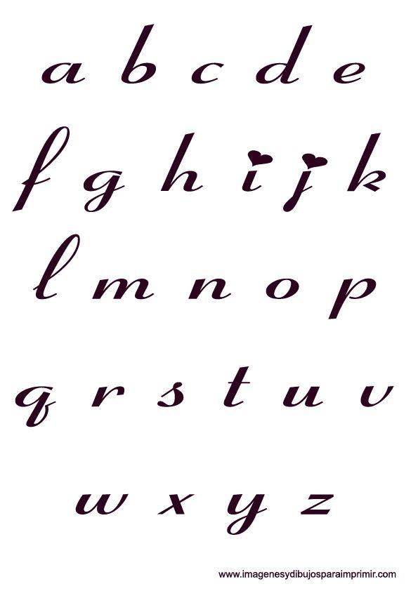Letras bonitas cursivas buscar con google moldes pinterest search - Literas bonitas ...