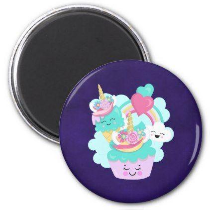 # Netter kleiner Kuchen und glücklicher Eiscreme-Magnet – #trendy #gifts #template   – trendy gifts